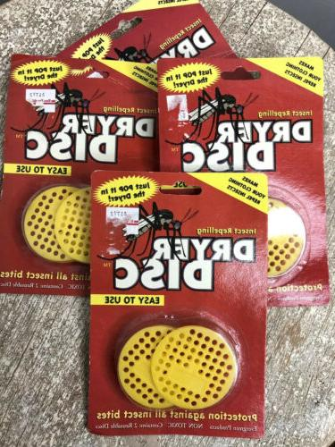 insect repelling dryer discs 4 packs 8