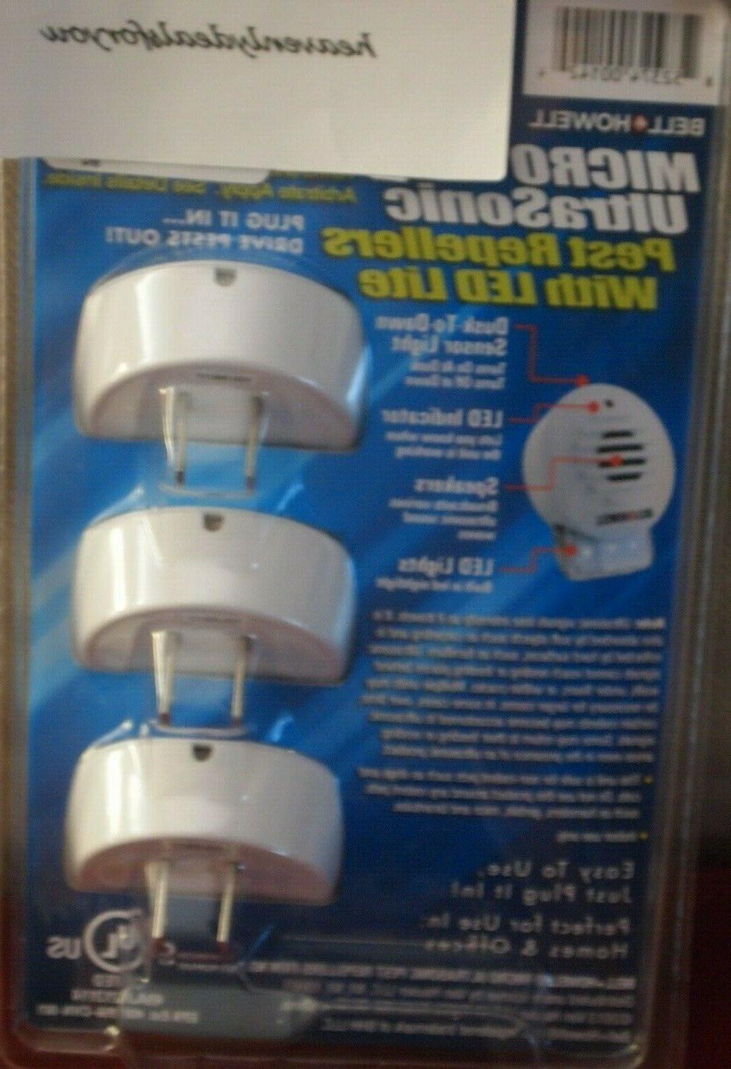 NIP sealed Bell+ MICRO Pest Repellers w/LED Lite FREE SHIP