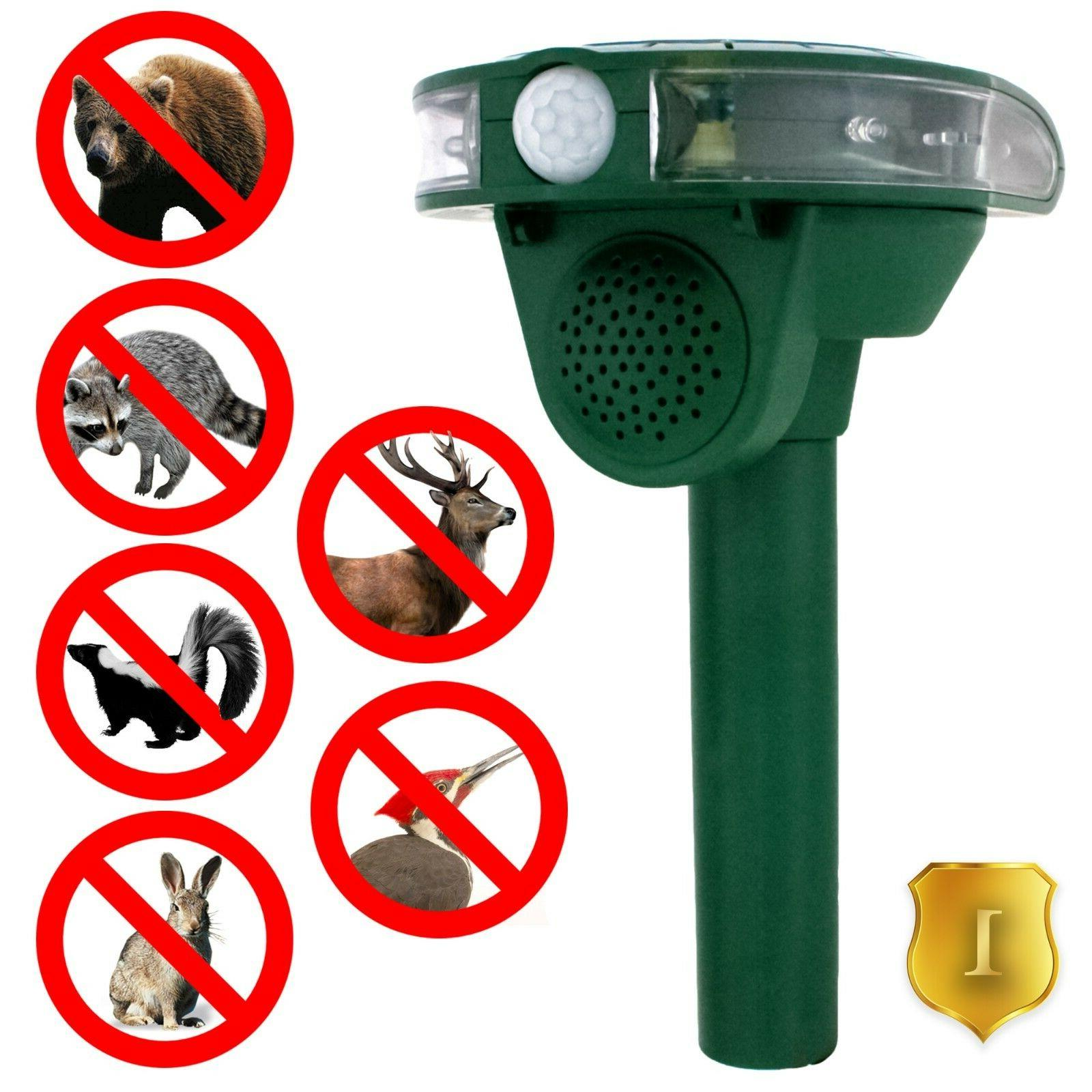 outdoor solar ultrasonic animal repeller protect your
