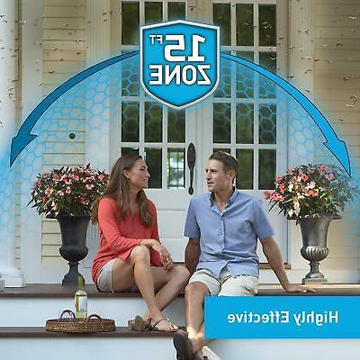 Thermacell Patio Shield Mosquito Repeller, Fiesta Easy to Use,