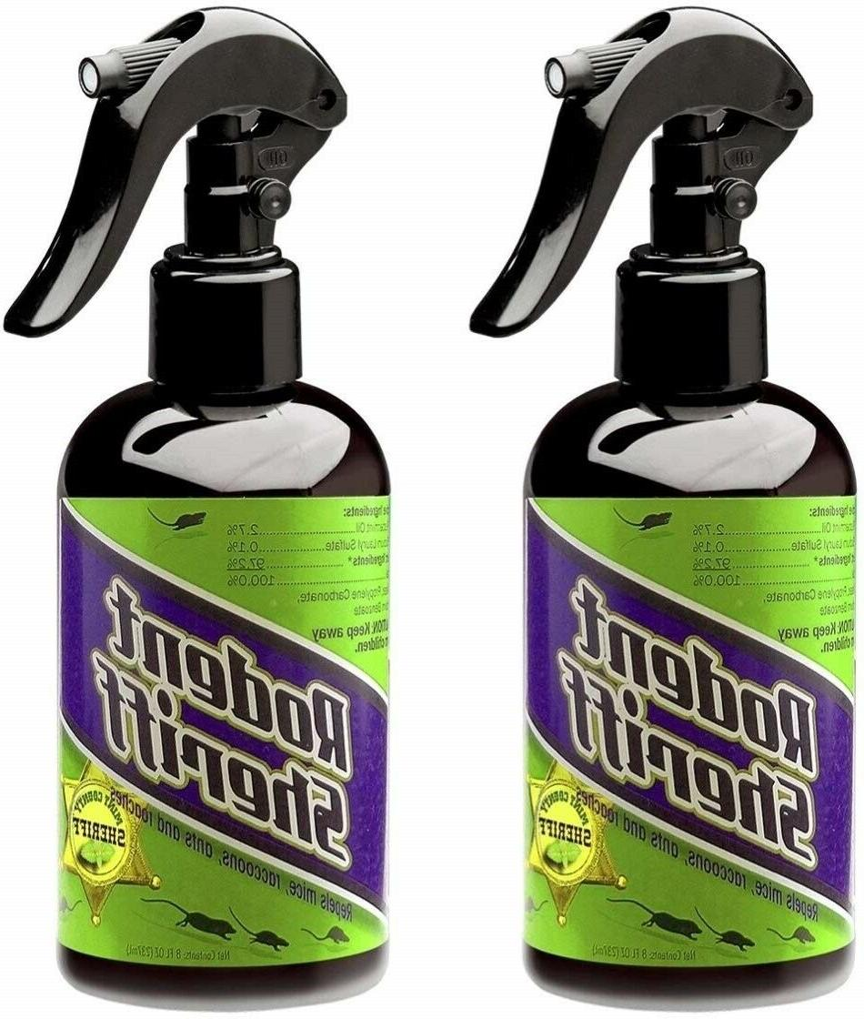 Rodent Sheriff All-natural peppermint Oil Set 2 Safe Spray H