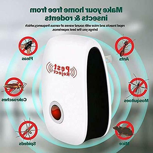 Plug In Ultrasonic Pest Repeller Ants Fleas Spiders Rats Mice
