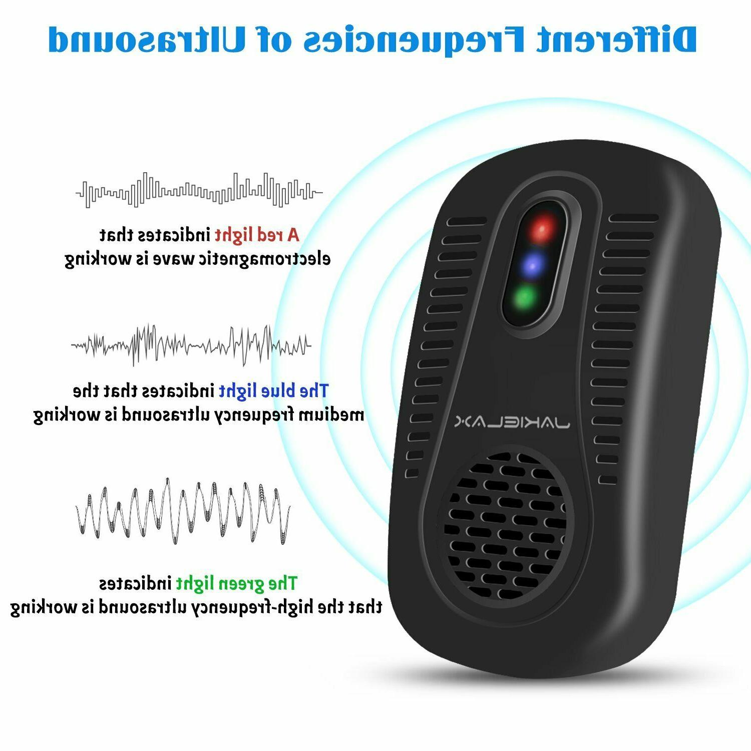 Set of Ultrasonic Waterproof Indoor Pest Repellent Bugs Chaser