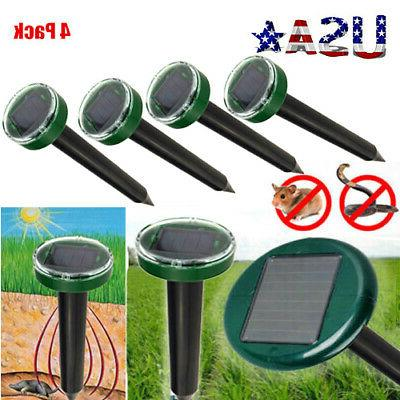 Solar Power Mouse Gopher Rodent Repellent Repeller