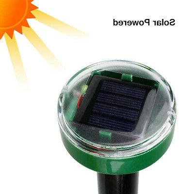 4X Solar Powered Sonic Rodent Mosquito Repellent Yard