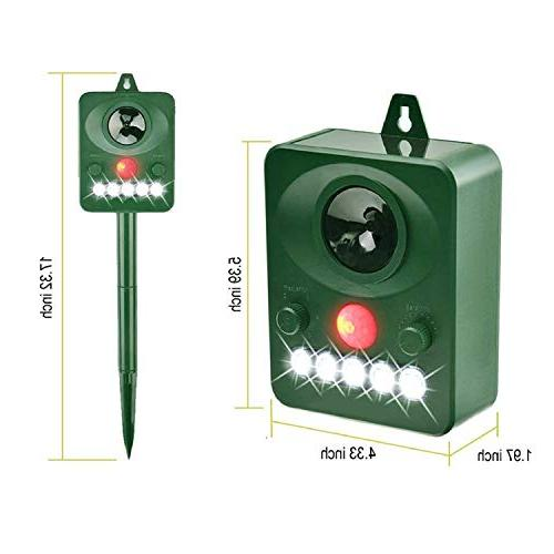 Tengcong Animal Weatherproof Repeller,with LED Flashing Light and Ultrasonic Sound,
