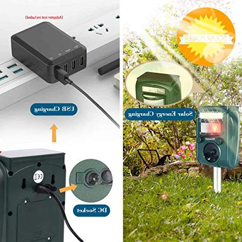 Wikoo Ultrasonic Animal Powered Cable Outdoor Repellent Activated PIR and more
