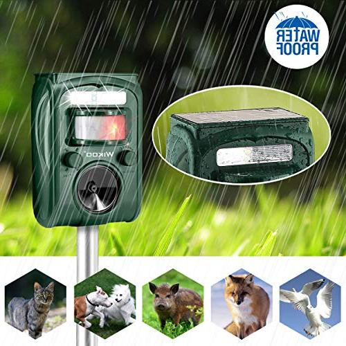 Powered Repeller and Flashing Motion Very Effective for Cats,Dogs,Squirrels,Moles,Rat