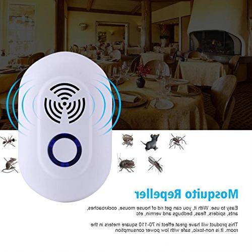 Ultrasonic Repeller,Sammid Indoor Ultrasonic Control Repeller Plug in Eco Electronic Human for Indoor and Outdoor