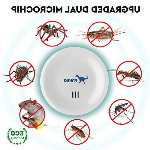 Ultrasonic & Ultrasound Pest Repellent - - Set 6 Electronic Control Plug Home Repeller - Get Rid of Insects, Termites, Mice, Bats