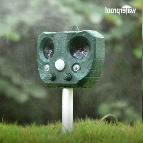 Upgraded Solar Animal Repellent Cat Skunk Deer For Garden