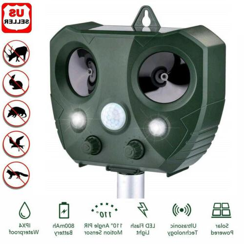 upgraded solar ultrasonic animal repellent dog cat