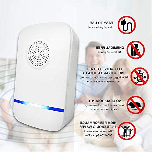 JALL Ultrasonic Repeller in Reject, for Bugs, Rat, Spider, and 6