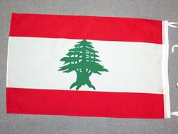 AZ FLAG Lebanon Flag 18'' x 12'' Cords - Lebanese Small Flag