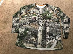 Realtree Long Sleeve Mossy Oak Shirt w Insect Repellent, Fle