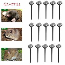 LOT2~24 Solar Powered Ultrasonic Sonic Mouse Mole Pest Roden