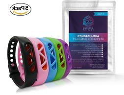 Zenius Designs 5 Pack Mosquito Repellent Bracelet Bands, Nat