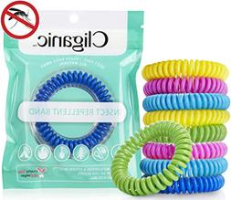 Cliganic 10 Pack Mosquito Repellent Bracelets, 100% Natural