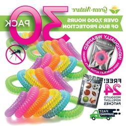 mosquito repellent bracelets individually packed bands 100