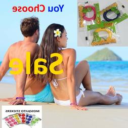 Mosquito Repellent Bracelets / Stickers Insect Bug Deet Free