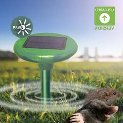 New Outdoor Yard Sonic Solar Mole Mouse Mice Gopher Rodent P