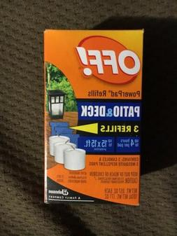 OFF! Mosquito Lamp & Lantern 3 PowerPad Refills Unscented Re