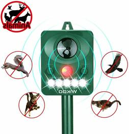Wikoo Outdoor Solar Animal Repeller LED Flashing Light with