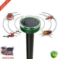 Outdoor Solar Power Mole Mouse Ultrasonic Gopher Rodent Pest