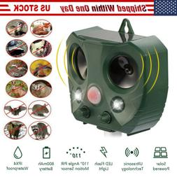 Outdoor Solar Ultrasonic Power Pest Animal Repeller Repellen