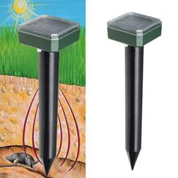 Outdoor Solar Ultrasonic Snake Mouse Repellers Pest Rodent R
