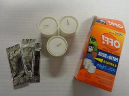 OFF! Patio & Deck PowerPad Lamp Refills 3 Candles & Mosquito