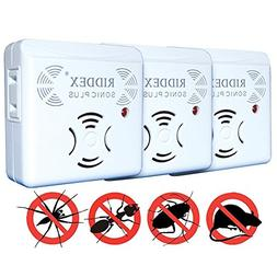 Riddex Sonic Plus Pest Repeller Set Of 3 - Utrasonic Wave No