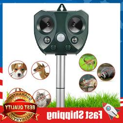 Solar Animal Repellent Ultrasonic Outdoor, Animal Repeller w
