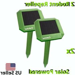 CATCHA SOLAR POWERED MOLE RODENT REPELLENT ENVIROMENTALLY FR