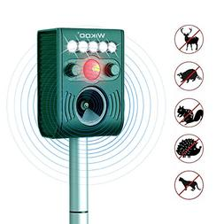 Wikoo Solar Powered Ultrasonic Animal and Pests Repeller,Out