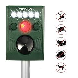 Wikoo Solar Powered Ultrasonic Animal and Pests Repeller, Ou