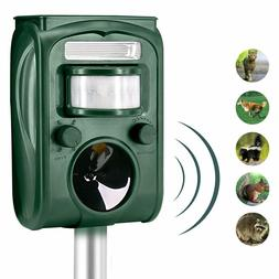 Solar Powered Ultrasonic Animal Repeller Outdoor Pest Contro