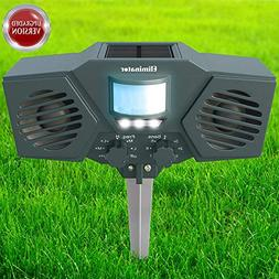 Solar Powered Ultrasonic Outdoor Pest Animals Repeller Power