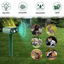 Solar Ultrasonic Animal Repeller, Outdoor Repellent for Cats