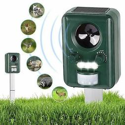 Solar Ultrasonic Power Pest Animal Repeller Repellent Garden