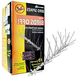 BIRD-X STS-10 Bird Repellent Spikes, 3 lb., PK 5