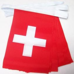 AZ FLAG Switzerland 6 Meters Bunting Flag 20 Flags 9'' x 6''