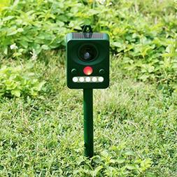 Ultrasonic Animal Control Pest Electronic Bird Repeller Yard