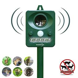 ZOVENCHI Ultrasonic Animal Pest Repellent, Solar Powered Ani