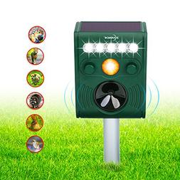 ZOVENCHI Ultrasonic Animal Pest Repellent, Outdoor Solar Ani