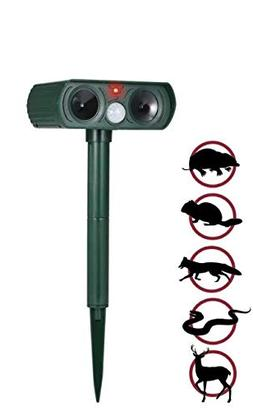 PestPush Ultrasonic Animal Repeller, Solar Powered Pest Repe