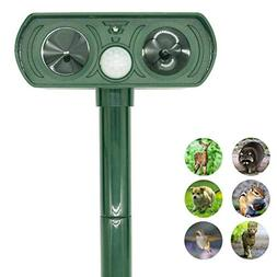 ZOVENCHI Ultrasonic Animal Repeller, Solar Powered Pest Repe