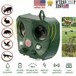 Ultrasonic Animal Repeller Outdoor Pest Control with Motion