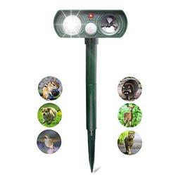 Jiareet Ultrasonic Animal Repeller Solar Pest Repellent Outd