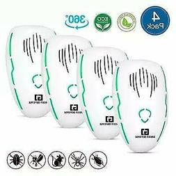 Ultrasonic Pest Repellent Plug in 4 Pack| Roach, Spider, Bed